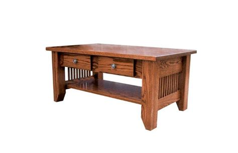 amish mission coffee table with drawer