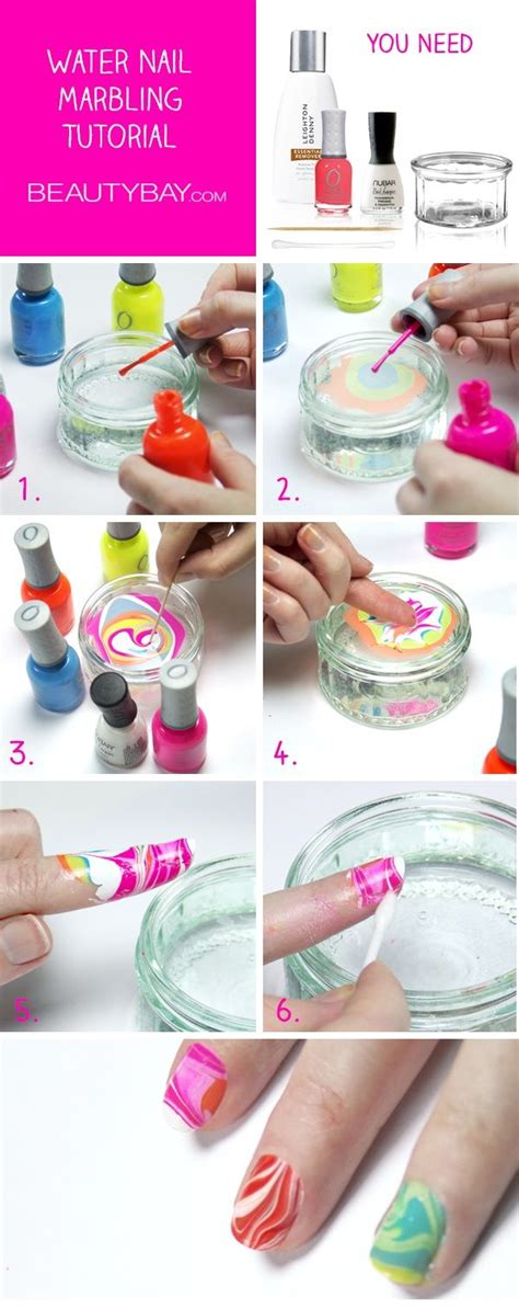 tutorial nail art water marble water nail marbling tutorial pictures photos and images