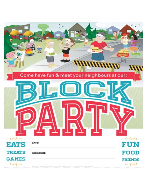 templates for party posters block party poster free download