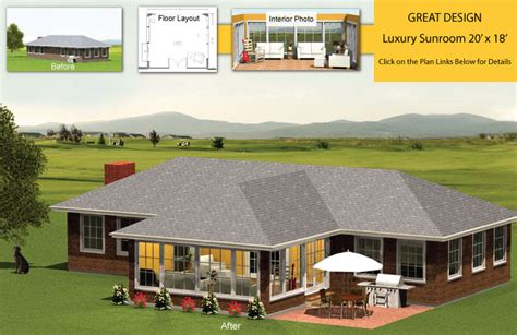 Big Porch House Plans by Premier Four Seasons Sunroom Addition 20 X 18