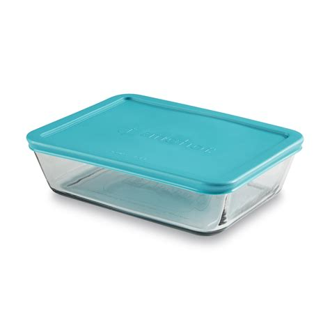 anchor hocking storage containers anchor hocking 6 cup rectangular glass storage container lid
