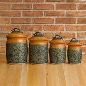 stoneware canister set kitchen storage jars uncommongoods pottery canister set ships in 1 week kitchen set of 3 jars