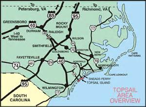 getting to topsail island