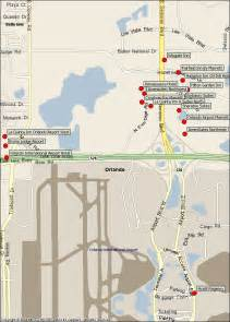 Map Of Orlando International Airport by Orlando Airport Hotels Map Orlando Airport Mappery