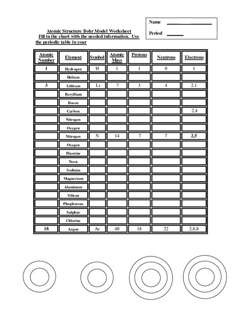 Atomic Models Worksheet Answers by 15 Best Images Of Atomic Model Worksheet Bohr Atomic