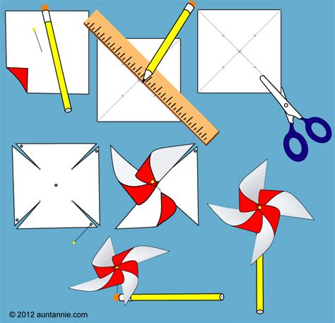 How To Make Paper Windmill - diy wedding ideas pinwheel favor boxes
