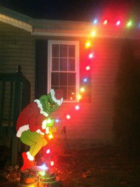 grinch pulling down lights grinch outdoor decorations fishwolfeboro