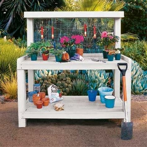 make a potting bench wood pallet potting benches pallet ideas recycled