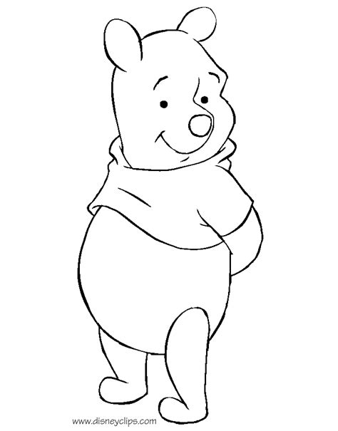 winnie the pooh templates winnie the pooh printable coloring pages 3 disney