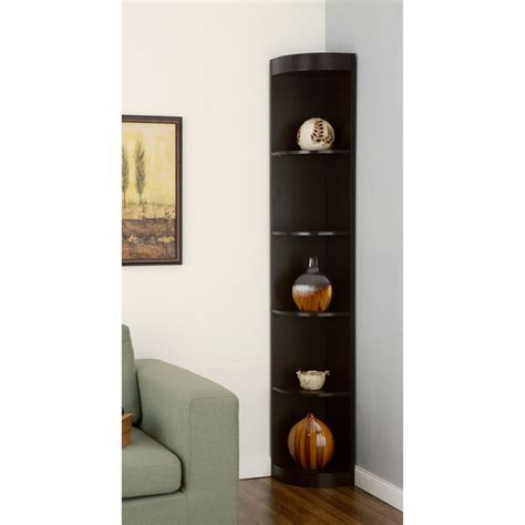 Corner Cabinet Bookshelf Corner 5 Shelf Display Stand Bookshelf Office Bookshelves