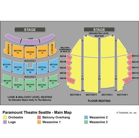 paramount theater seattle seating chart seattle tickets