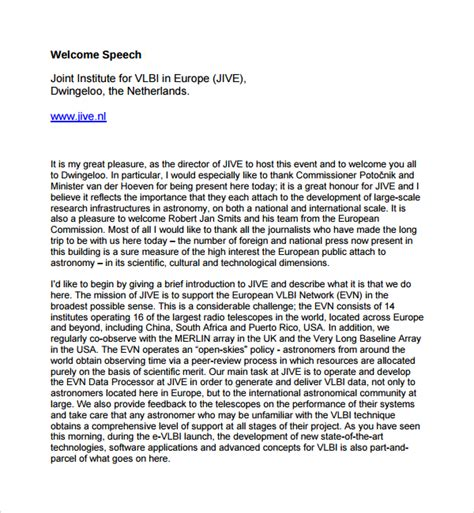 Essay Welcome Speech by How To Write Welcome Speech