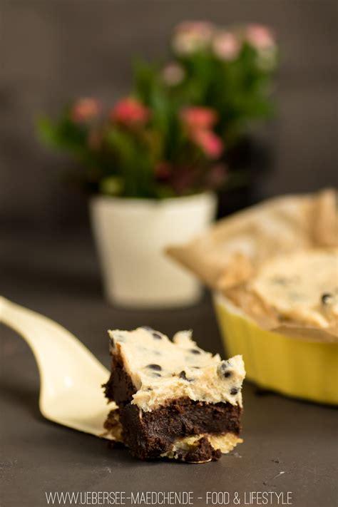 keksteig kuchen cookiedough kuchen mit brownie schicht 220 bersee m 228 dchen