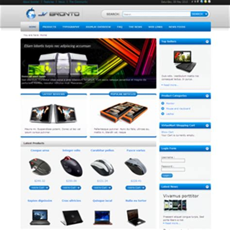 free shopping cart templates in php jv bronto joomla template joomla shopping