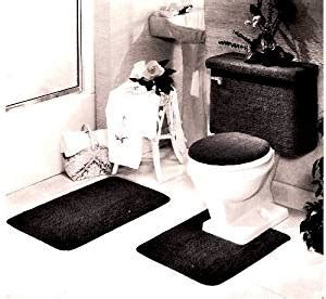 Black Bathroom Rug Set by 5 Black Bathroom Rug Set Includes Area Rug Contour Rug Lid Cover And Tank