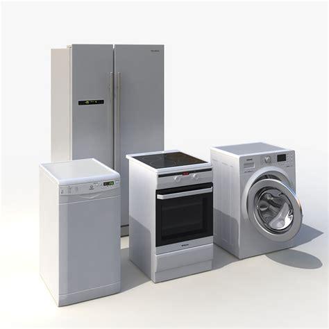 kitchen appliances set 3d indesit kitchen appliances set model