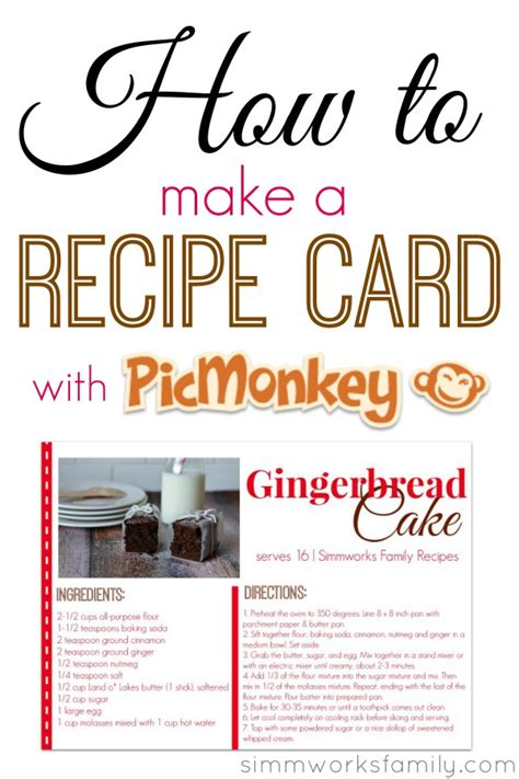 how to make a recipe card how to make a recipe card using picmonkey