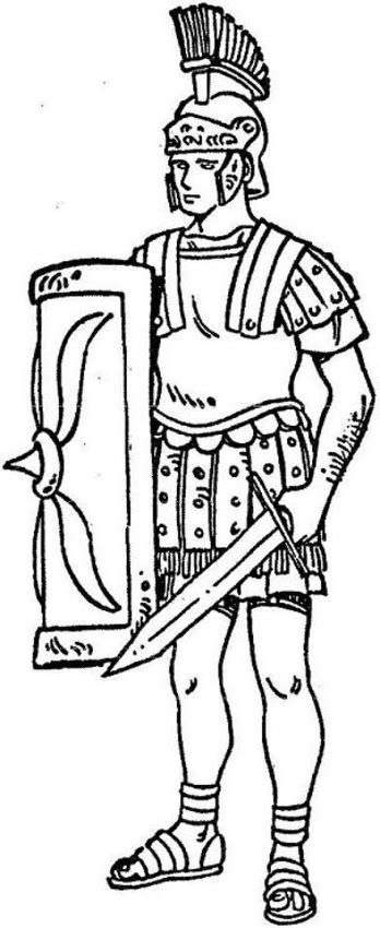 free coloring pages of roman army