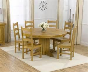 zenia oak 150cm round dining table amp 6 lavena oak timber
