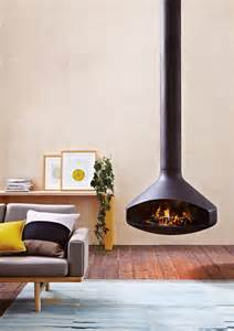 hanging fireplaces modern ergofocus pivoting suspended fireplace oblica designer