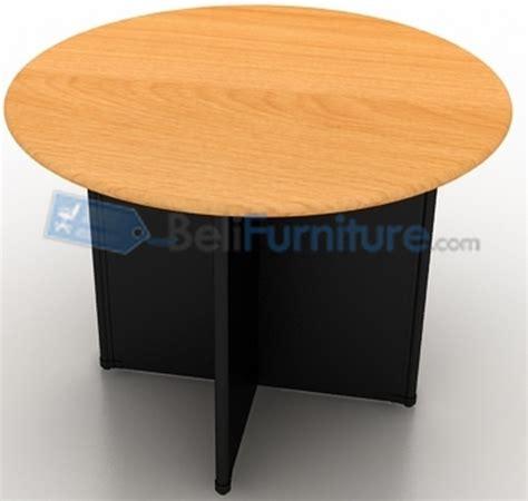 Meja Meeting Bulat Uno Uct8771 Walnut uno classic meja meeting bundar 100 cm murah bergaransi dan lengkap belifurniture