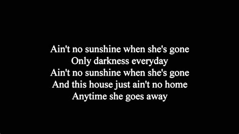 ain t no sunshine joe cocker ain t no sunshine lyrics hq youtube