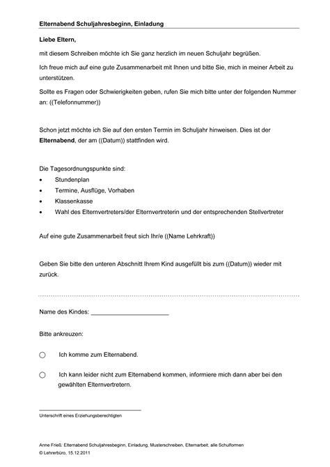 Handout Schreiben Muster Elternabend 183 Arbeitshilfen 183 Grundschule 183 Lehrerb 252 Ro