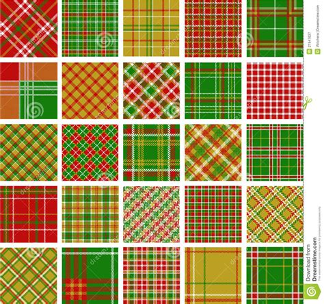 vector plaid pattern free big set of christmas plaid patterns stock illustration