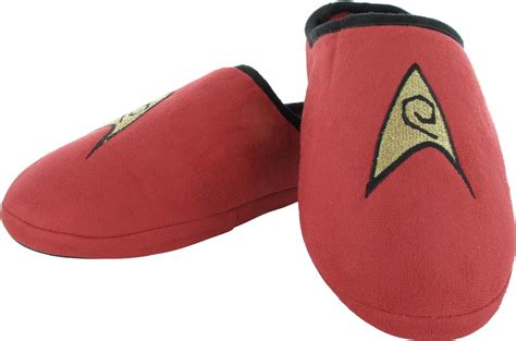 red house shoes star trek tos engineering red slippers