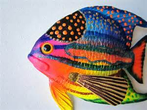 Nautical Decor For Nursery Fish Art Tropical Fish Wall Decor