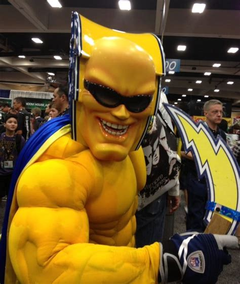 the bolt san diego chargers mascot touchdown