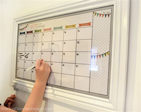 diy calendar template seasonal erase calendars set of four doodles