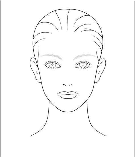 printable hair templates makeup templates face blank makeup face template make