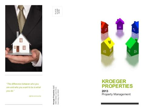 Mba Property Management Llc by Kpllc Property Management Phlet