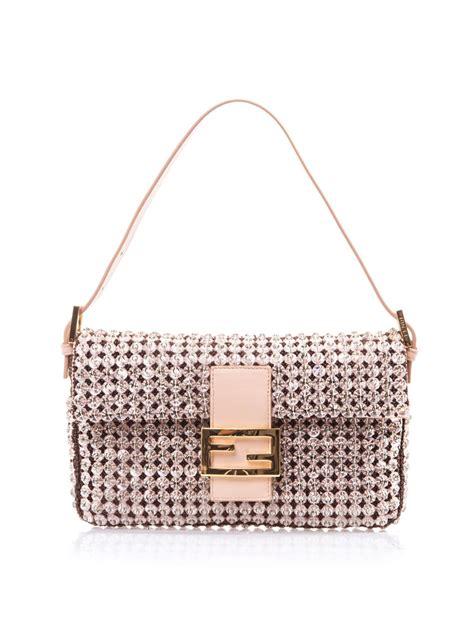 Fendi Embellished Bag by Fendi Embellished Baguette Bag In Metallic Lyst