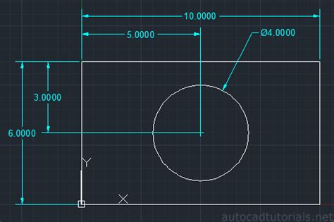 tutorial autocad net how to draw plate with hole latest update