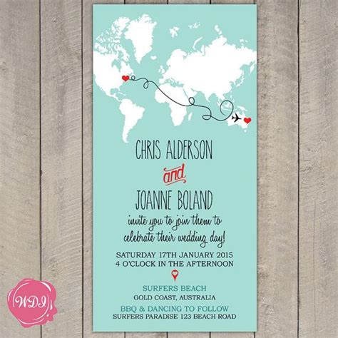 printable directions for invitations destination wedding invitation map world travel