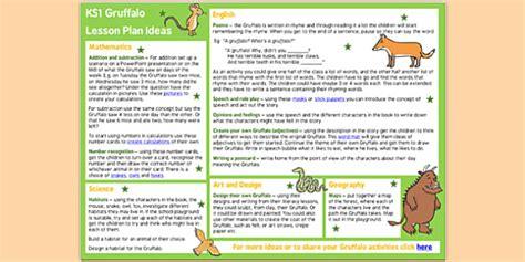 lesson plan template gaeilge the gruffalo lesson plan ideas ks2 the gruffalo the