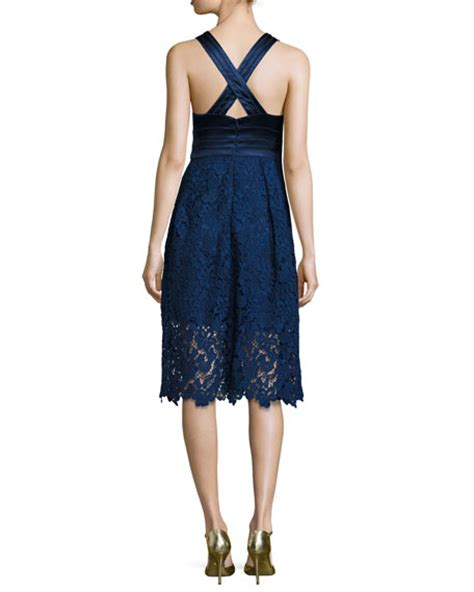 Dress Of The Day Unger Silk Cocktail Dress by Unger New York Sleeveless Satin Lace Cocktail Dress