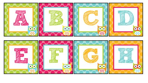 printable alphabet owl the teaching sweet shoppe owl alphabet for your word wall
