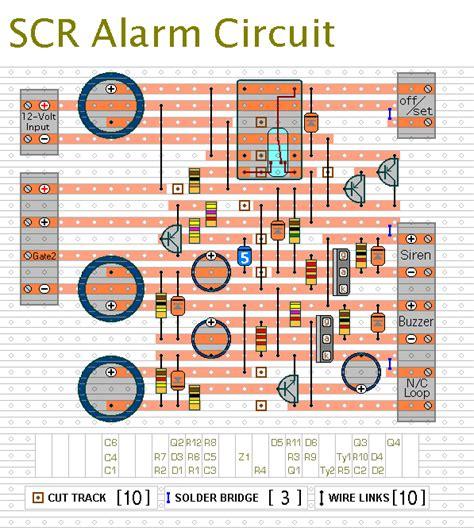 how to build an scr based burglar alarm circuit diagram