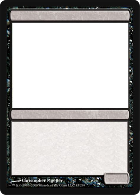 magic card size template mtg blank black card by growlydave on deviantart