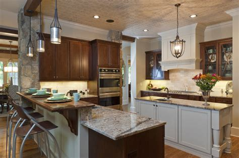 Mixed Wood Kitchen Cabinets Trend Alert Mixed Cabinet Finishes In The Kitchen