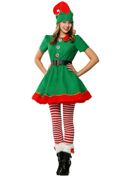 womens holidays women s holiday elf plus size costume