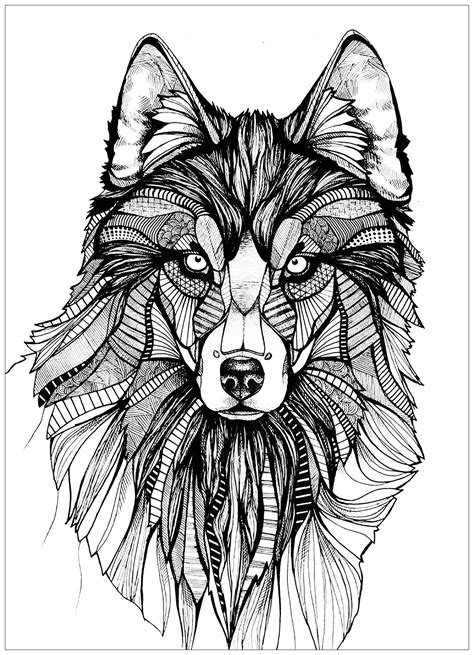 Wolf 3 - Wolves Adult Coloring Pages