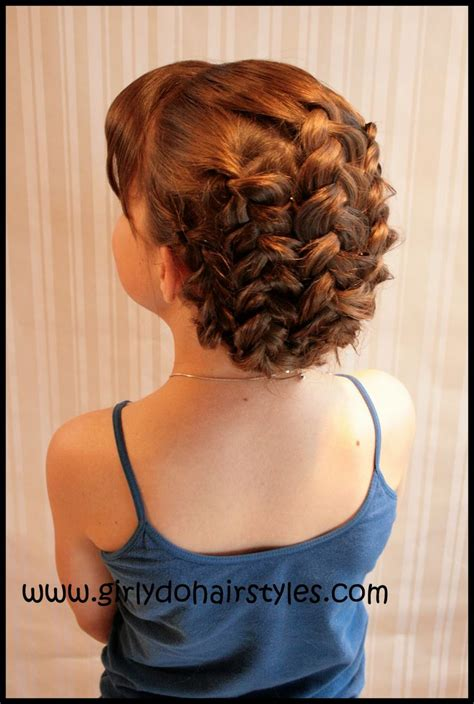 cute easy hairstyles simple braided flower updo 416 best images about hair on pinterest lilith moon