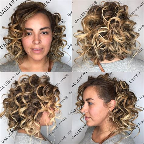 bob hairstyles pinned back women s blonde back pinned curly bob with highlights