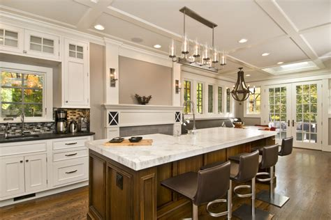 large kitchen islands with seating allow room for dining with a large kitchen islands