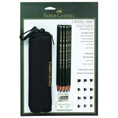 Pensil Faber Castell 9000 5b faber castell castell 9000 drawing pencil bag set pencils