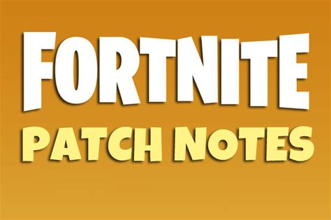 fortnite  server status   patch notes update
